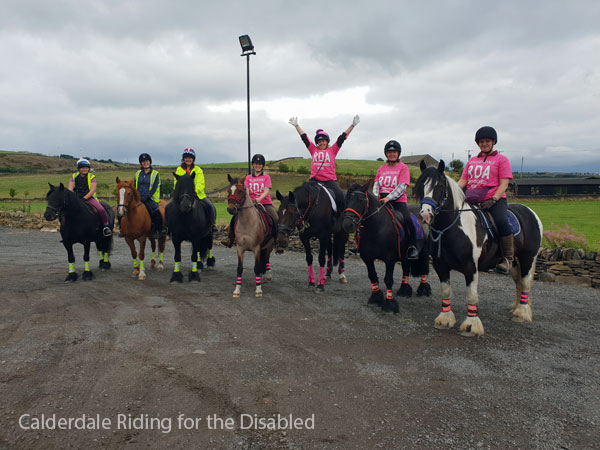 Calderdale Riding for the Disabled a group sat on horseback